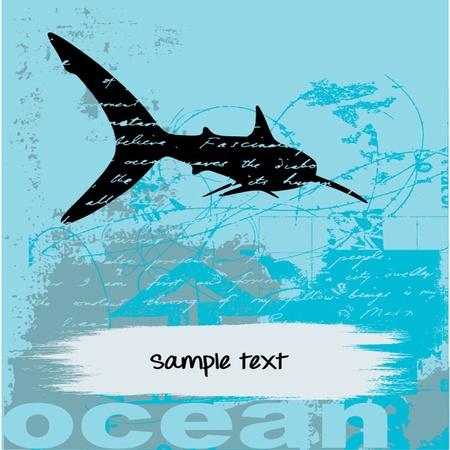 grunge Underwater Stock Vector - 13451423