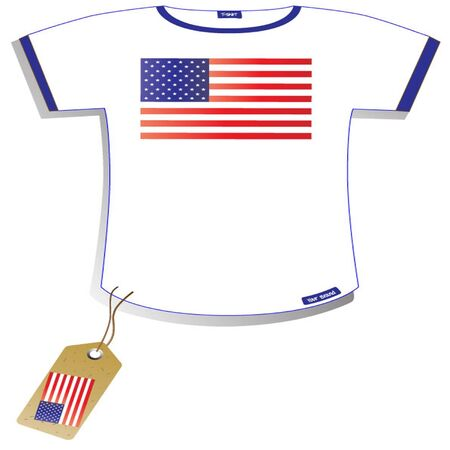 sleeved:  American Flag T-shirt