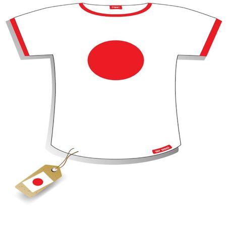 Japan T-shirt Stock Vector - 13536866