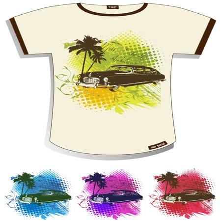 works: Abstract Grunge T-shirt Design
