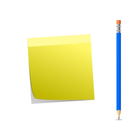 Note paper and pencil Vector