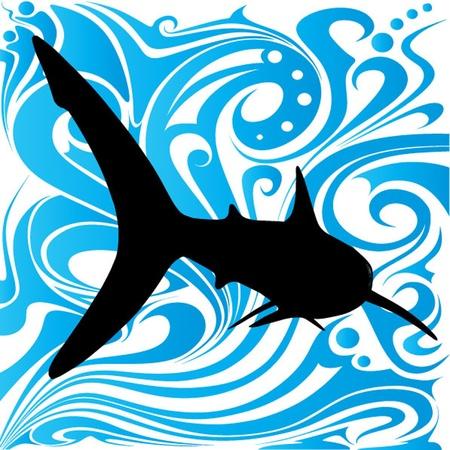 pez abstracto: dise�o abstracto de los pescados