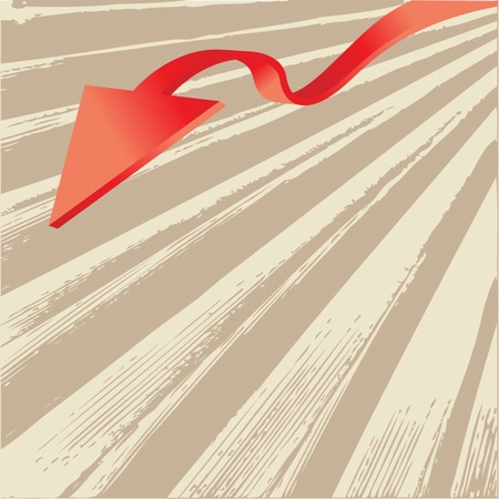 3 point perspective: Abstract Background with Arrow Illustration