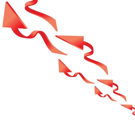 3 point perspective: Abstract Background with Arrow Sign