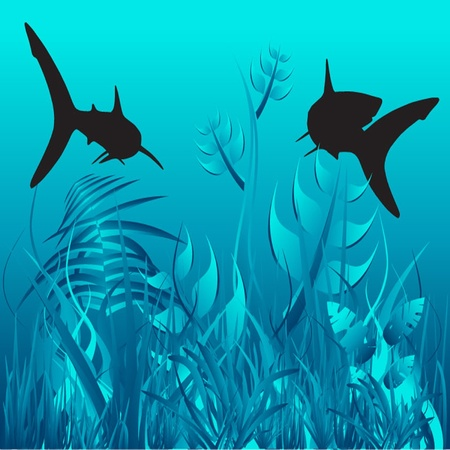 Vector Underwater Stock Vector - 13592063