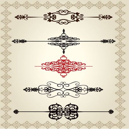 ornamental scroll: Vector decorative Design Elements