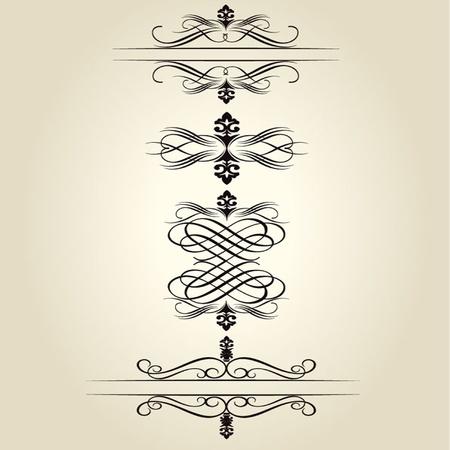 accents: Vector decorative Design Elements