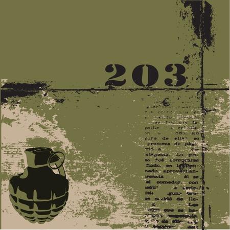 Handgranate Grunge-Hintergrund Illustration