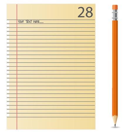 Vector Note Paper Illustration