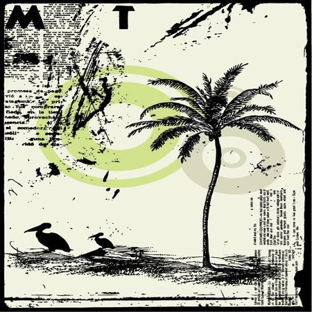 grunge typographic background Stock Vector - 13814785