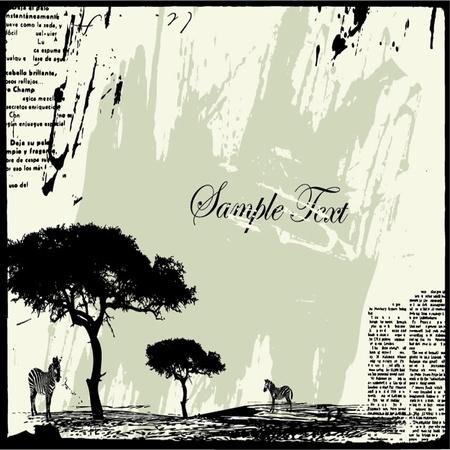 gazelle: grunge typographic background