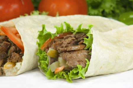 turkish kebab: doner wrap