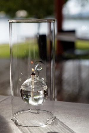 Modern Stylish Glass Gas Lamp photo