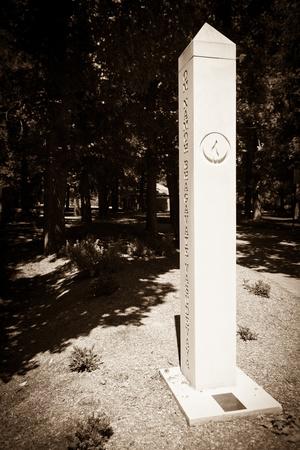 Sepia Tone Column Spire Artwork