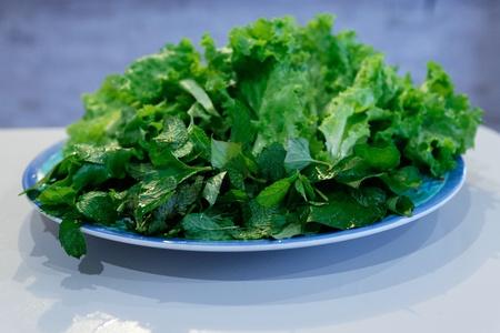 Mint, Lettuce, Rau Dap Ca