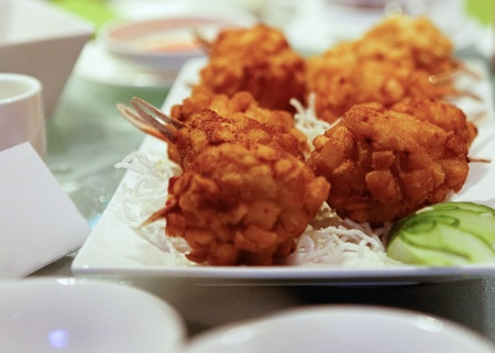 Fried Crab Claw Balls on Platter