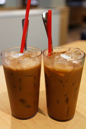 Two Glass Vietnamese Ice Coffee