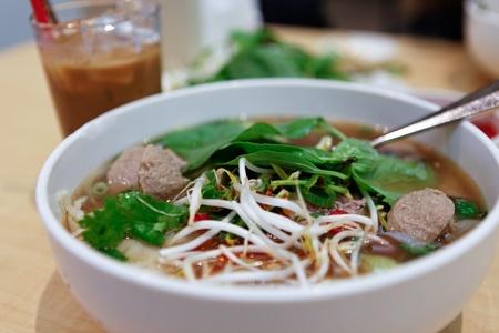Vietnamese Rare Beef Noodle Soup Pho