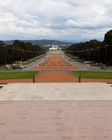 ANZAC Parade with Parliament House in Back Editorial