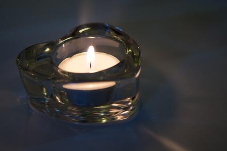 Earth Hour Heart Shape Candle Light