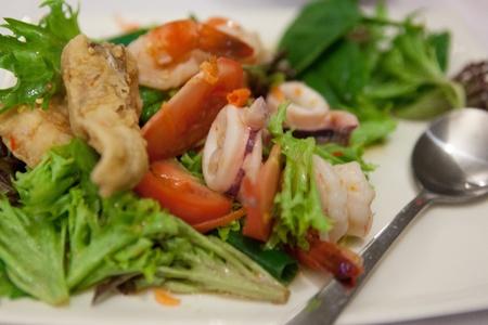 Thai Octopus Prawn Fish Salad