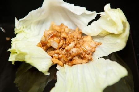 San Choy Bow Appetiser Stock Photo