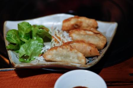 potstickers: Gyoza Potstickers Fried Dumpling Stock Photo