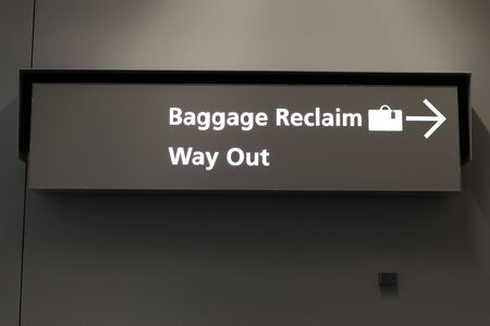 Baggage Reclaim Way Out Sign photo