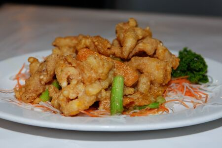 Salty Battered Crocodile With Egg White