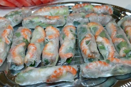 Vietnamese Fresh Spring Rice Paper Rolls