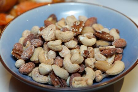 Bowl Mixed Nuts Cashew Almond
