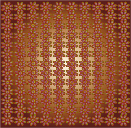 brown pattern: The floral pattern on a brown background