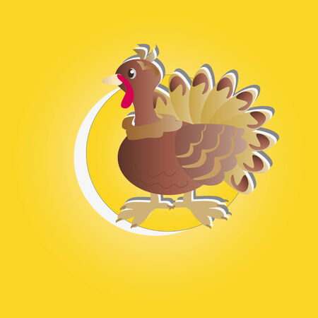 The symbol of Thanksgiving - turkeys in a yellow circle
