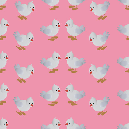 The pattern for the background, composed of small grey birds . The blue background.