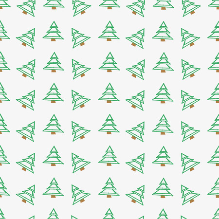 The pattern for the background, made of small stylized Christmas trees Vector