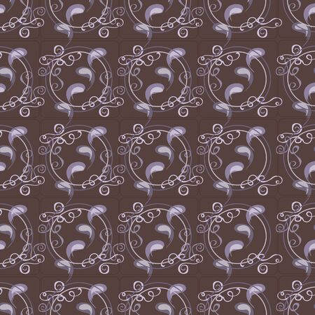 squiggles: The pattern for the background made of abstract combinations of different elements Illustration