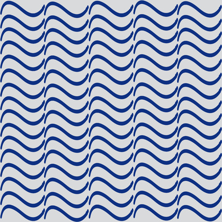 similarity: Simple blue pattern for the background, composed of wavy lines on a gray background Illustration