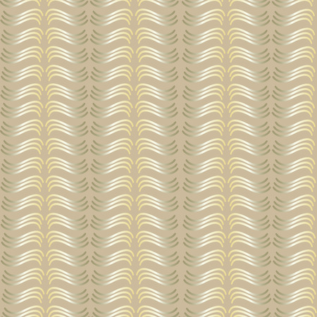 A simple Golden pattern for the background, composed of wavy lines on a brown background Illustration