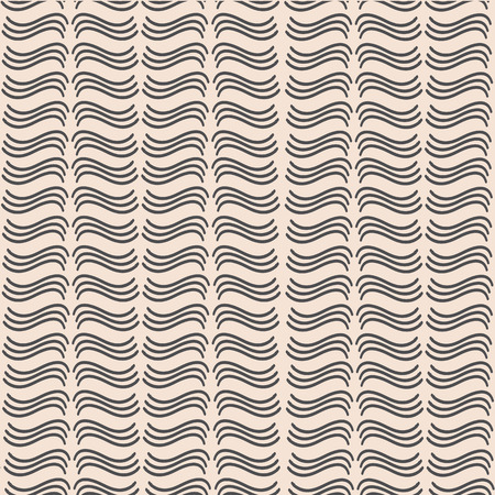 The graphic pattern composed of simple wavy lines on a light background Illustration