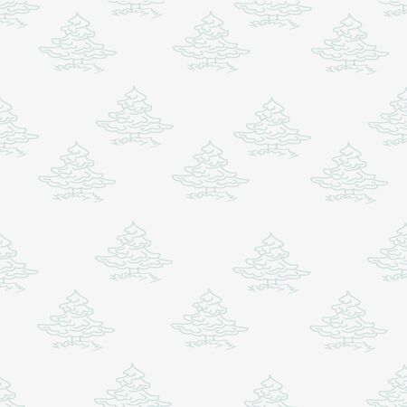 firtrees: Seamless pattern made of small fir-trees and grass on a gray background