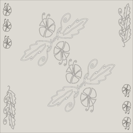 squiggles: The pattern for the background of natural motifs: petals, flowers, squiggles.