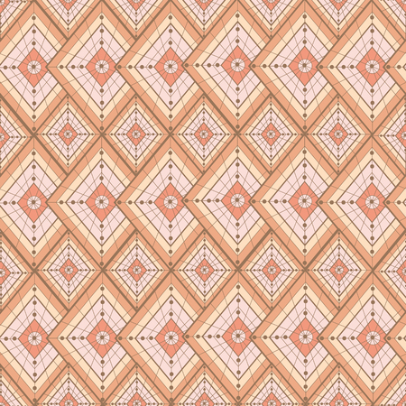 gossamer: Seamless pattern for background, composed of repeating geometric shapes. Illustration