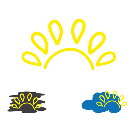 phenomenon:  the sun, blot-cloud and sun with cloud.