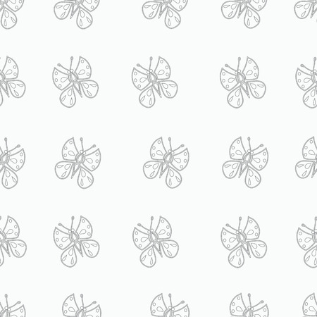 compiled: Ornament from monochrome butterflies, compiled for the background.