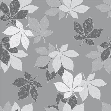 sophistication: Ornamento perfecta. Patr�n .made de las hojas de la casta�a, hechas en arte gr�fico. Vectores