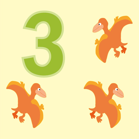 pteranodon: Poster for numeracy.Figure three. Around the figure is a picture of three dinosaurs.