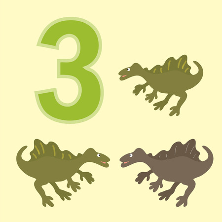 teaches: Poster for numeracy.Figure three. Around the figure is a picture of three dinosaurs.