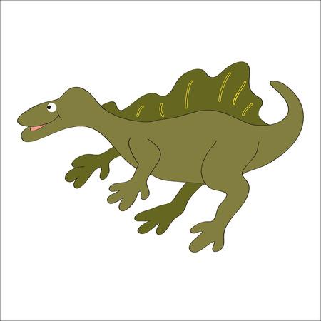 spinosaurus: illustration. The adorable big - (spinosaurus).