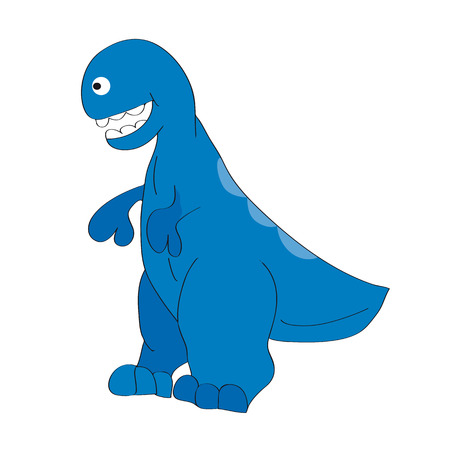 charming: illustration. Charming big -Tyrannosaurus.