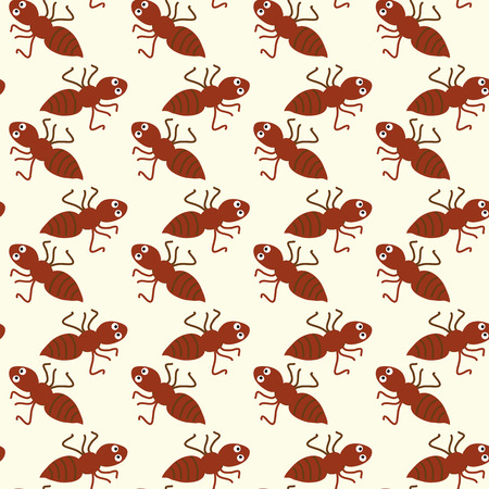 numerous: Seamless ornament composed of numerous ants. Illustration